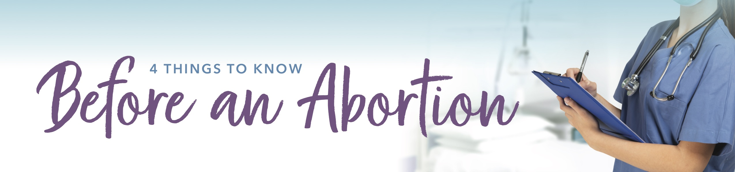 woman looking at things to know before an abortion